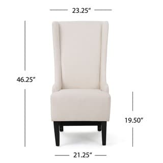 Callie High Back Fabric Dining Chair by Christopher Knight Home