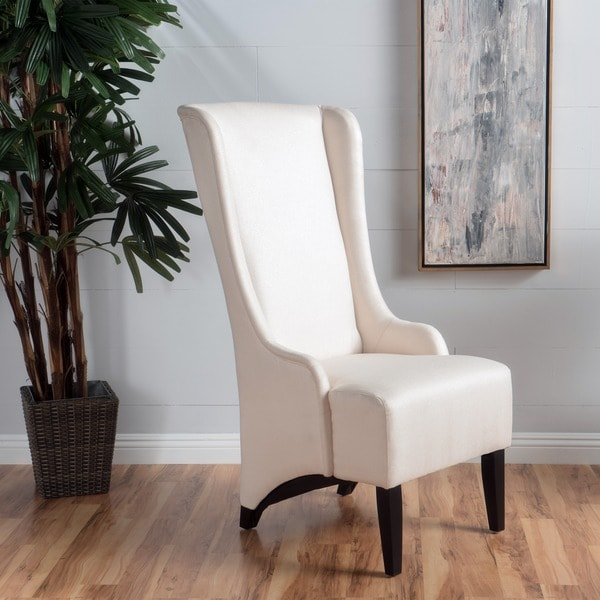 callie high back fabric dining chair by christopher knight home free