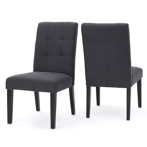 Bronson Tufted Fabric Dining Chair (Set of 2) by Christopher Knight Home