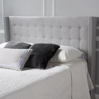 Kendrah Adjustable Full/ Queen Wing Back Studded Fabric Headboard by Christopher Knight Home|https://ak1.ostkcdn.com/images/products/13770391/P20423869.jpg?impolicy=medium