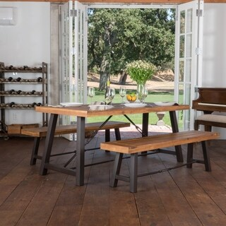 Countryside Inn 3-piece Acacia Wood Picnic Dining Set by Christopher Knight Home