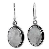 Handmade Sterling Silver 'Lunar Goddess' Rainbow Moonstone Earrings (India)