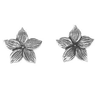 Handcrafted Sterling Silver 'Jasmine Blossoms' Earrings (Thailand)