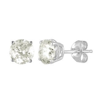 S925 Sterling Silver 1/2ct TDW Diamond Stud Earrings (I-J, I2-I3)