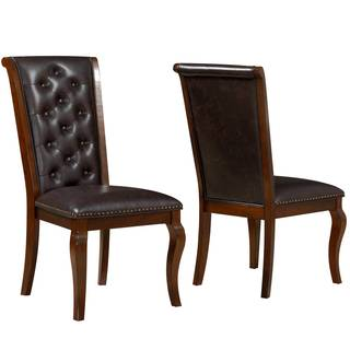 Strasbourg Traditional Elegant French Style Button Tufted Dining Chairs (Set of 2)