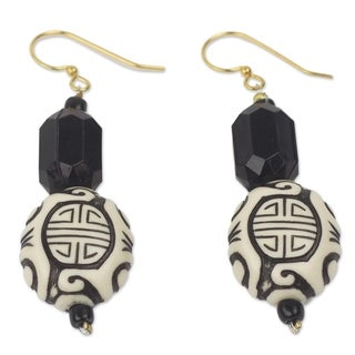 Handcrafted Upcycled Plastic Brass 'Gift from Asia' Earrings (Ghana)