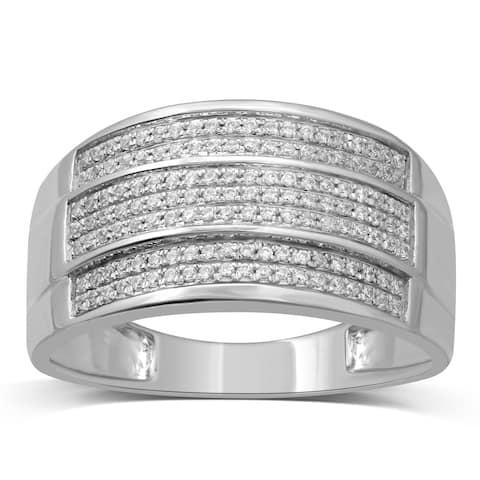 Unending Love 10k White Gold Men's 1/3ct TDW White Diamond Ring (I-J, I2-I3)