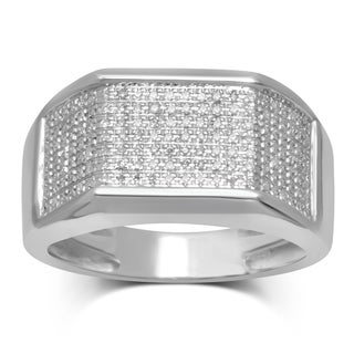 Unending Love 10k White Gold 1/4ct TDW White Diamond Ring (I-J, I2-I3)