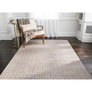 Jani Cali Tan Cotton/Jute Handwoven Rug (9' x 12')