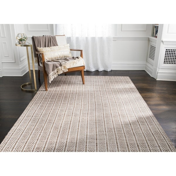Jani Cali Tan Cotton/Jute Handwoven Rug - 8' x10'