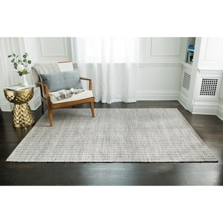 Jani Cali Grey Cotton/Jute Handwoven Rug (9' x 12')