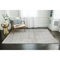 Jani Cali Grey Cotton/Jute Handwoven Rug - 5' x 7'