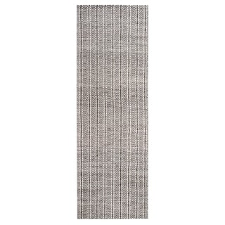 Jani Cali Grey Cotton/Jute Handwoven Runner Rug - 2'6 x 8'