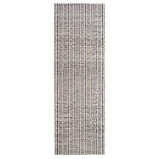 Jani Cali Grey Cotton/Jute Handwoven Runner Rug - 2'6 x 8'