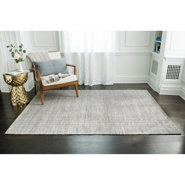 Jani Cali Grey Cotton/Jute Handwoven Rug - 8' x10'
