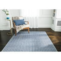 Jani Cali Blue Cotton/Jute Handwoven Rug - 9' x 12'
