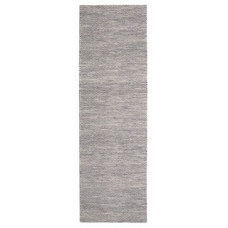 Jani Anthe Grey Natural Fibers Handwoven Rug (2'6 x 8')