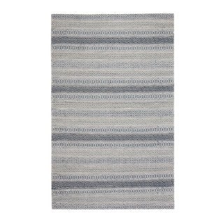 Link to Jani Tribe Blue and Ivory Natural Fibers Handwoven Rug Similar Items in Rustic Rugs