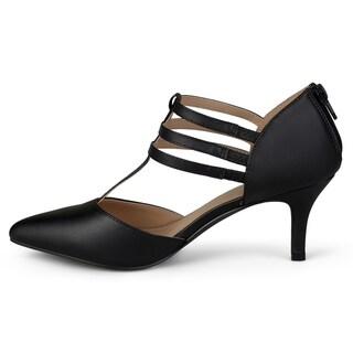 Journee Collection Women's 'Pacey' Matte T-strap High Heels