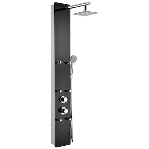ANZZI Melody 6-jetted Full Body Shower Panel in Black