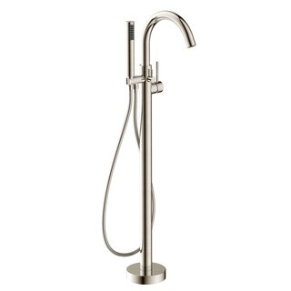 ANZZI Kros Series 2-handle Freestanding Claw Foot Tub Faucet with Hand Shower in Brushed Nickel