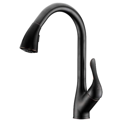 ANZZI Accent Series Single-Handle Pull-Down Sprayer Kitchen Faucet in Oil Rubbed Bronze