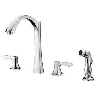 ANZZI Soave Series 2-Handle Standard Kitchen Faucet in Polished Chrome