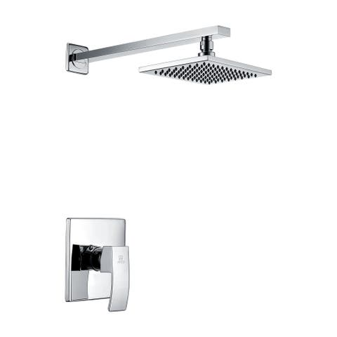 ANZZI Viace Series 1-spray Fixed Showerhead in Polished Chrome