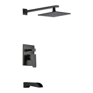 ANZZI Mezzo Series 1-Handle 1-Spray Tub and Shower Faucet in Oil-Rubbed Bronze