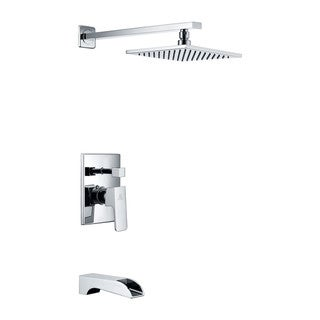 Link to ANZZI Mezzo Series 1-handle 1-spray Tub and Shower Faucet in Polished Chrome Similar Items in Showers