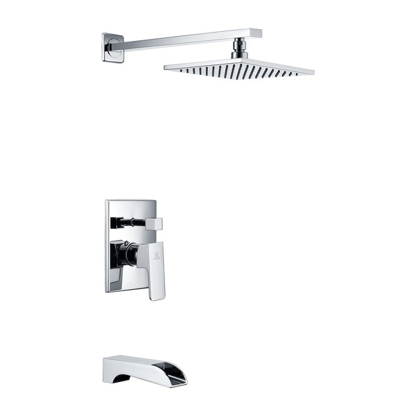 ANZZI Mezzo Series 1-handle 1-spray Tub and Shower Faucet in Polished Chrome. Opens flyout.