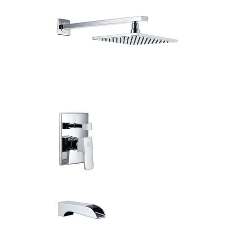 ANZZI Mezzo Series 1-handle 1-spray Tub and Shower Faucet in Polished Chrome