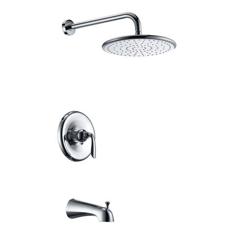 ANZZI Meno Series Single-Handle 1-Spray Tub and Shower Faucet in Polished Chrome