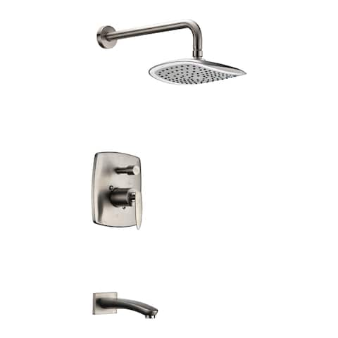 ANZZI Tempo Series 1-handle 1-spray Tub and Shower Faucet in Brushed Nickel