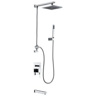 ANZZI Byne 1-handle 1-spray Tub and Shower Faucet with Sprayer Wand in Polished Chrome