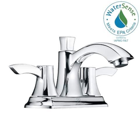 ANZZI Vista 4-inch Centerset 2-handle Mid-arc Bathroom Faucet in Brushed Nickel