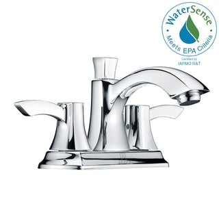 ANZZI Vista Series 4-inch Centerset 2-handle Mid-arc Bathroom Faucet in Brushed Nickel