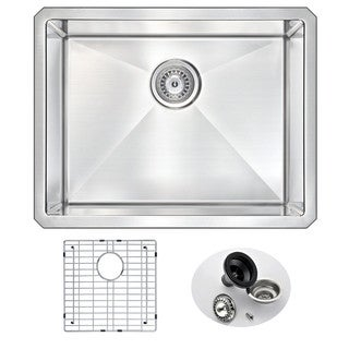 ANZZI VANGUARD 23-inch Under Mount Single Basin Stainless Steel Kitchen Sink