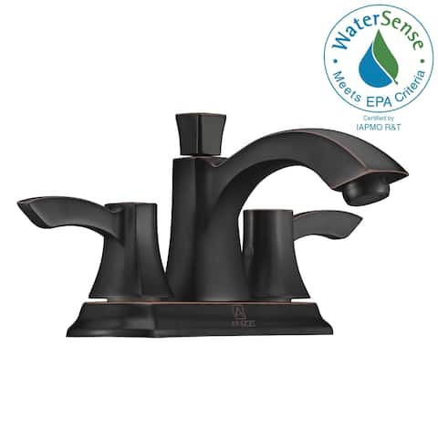 ANZZI Vista 4-inch Centerset 2-handle Mid-arc Bathroom Faucet in Oil Rubbed Bronze