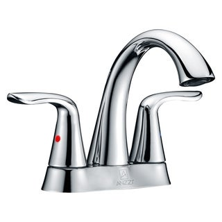 ANZZI Cadenza Series 4-inch Centerset 2-handle High-arc Bathroom Faucet in Polished Chrome