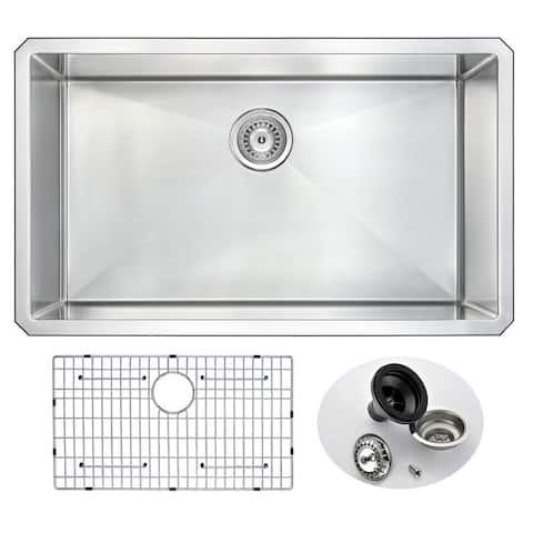 "ANZZI Vanguard 32"" Undermount Single Bowl Kitchen Sink"