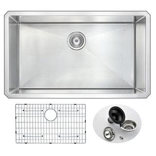 ANZZI VANGUARD 32-inch Under Mount Single Basin Stainless Steel Kitchen Sink