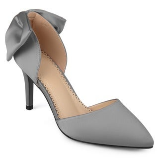 Journee Collection Women's 'Tanzi' Bow Pointed Toe D'orsay Pumps