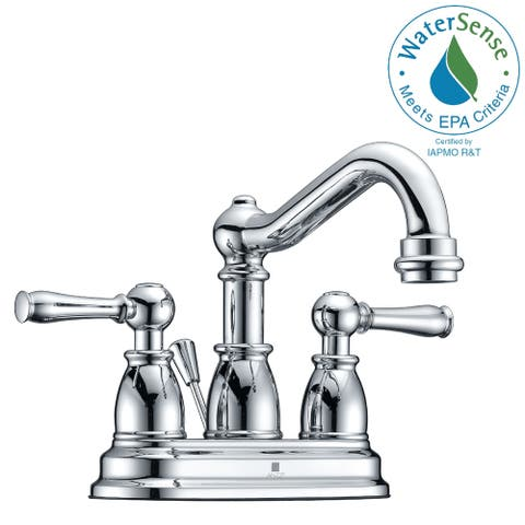 ANZZI Edge 4-inch Centerset 2-handle Mid-arc Bathroom Faucet in Polished Chrome