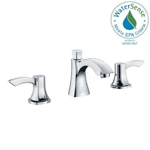 ANZZI Sonata 8-inch Widespread 2-handle Mid-arc Bathroom Faucet in Polished Chrome