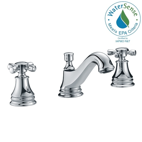 ANZZI Melody 8-inch Widespread 2-handle Mid-arc Bathroom Faucet in Polished Chrome. Opens flyout.