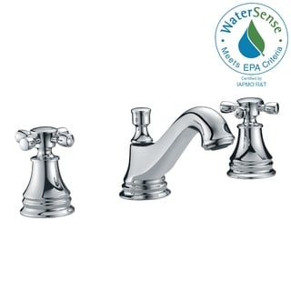 ANZZI Melody Series 8-inch Widespread 2-handle Mid-arc Bathroom Faucet in Polished Chrome