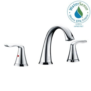 ANZZI Symphony Series 8-inch Widespread 2-handle High-arc Bathroom Faucet in Polished Chrome