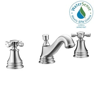 ANZZI Melody Series 8-inch Widespread 2-handle Mid-arc Bathroom Faucet in Brushed Nickel