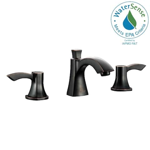 ANZZI Sonata 8-inch Widespread 2-handle Mid-arc Bathroom Faucet in Oil Rubbed Bronze